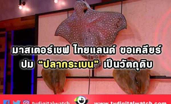 """มาสเตอร์เชฟไทยแลนด์ ขอเคลียร์ ปม """"ปลากระเบน"""" เป็นวัตถุดิบ"""