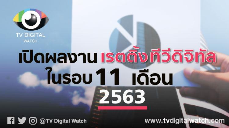 เปิดผลงานเรตติ้งทีวีดิจิทัลในรอบ 11 เดือนปี 2563